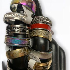 Ring Unisex Fashion stainless steal Size 11 mixed